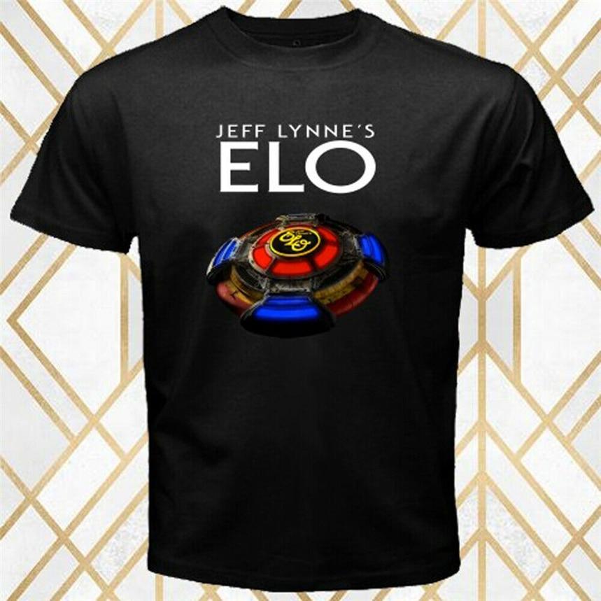 El logotipo de la leyenda del Tour de la banda de Rock de Jef Lynne; S Elo; camiseta de manga corta de algodón talla S-3Xl