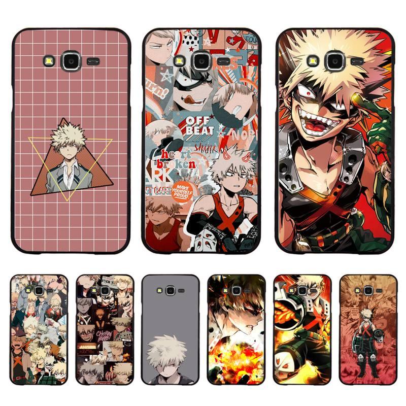 Motirunner Meu Herói Academia Bakugou Katsuki Caixa Do Telefone para Samsung A50 A70 A40 A6 A8 Plus A7 A20 A30 S7 S8 S9 S10 S20 Plus