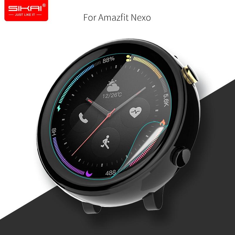 2 Pcs Smart Watch Screen Protectors for Amazfit Nexo film Accessories huami Smartwatch 2 ECG AC1807 MOSHOU