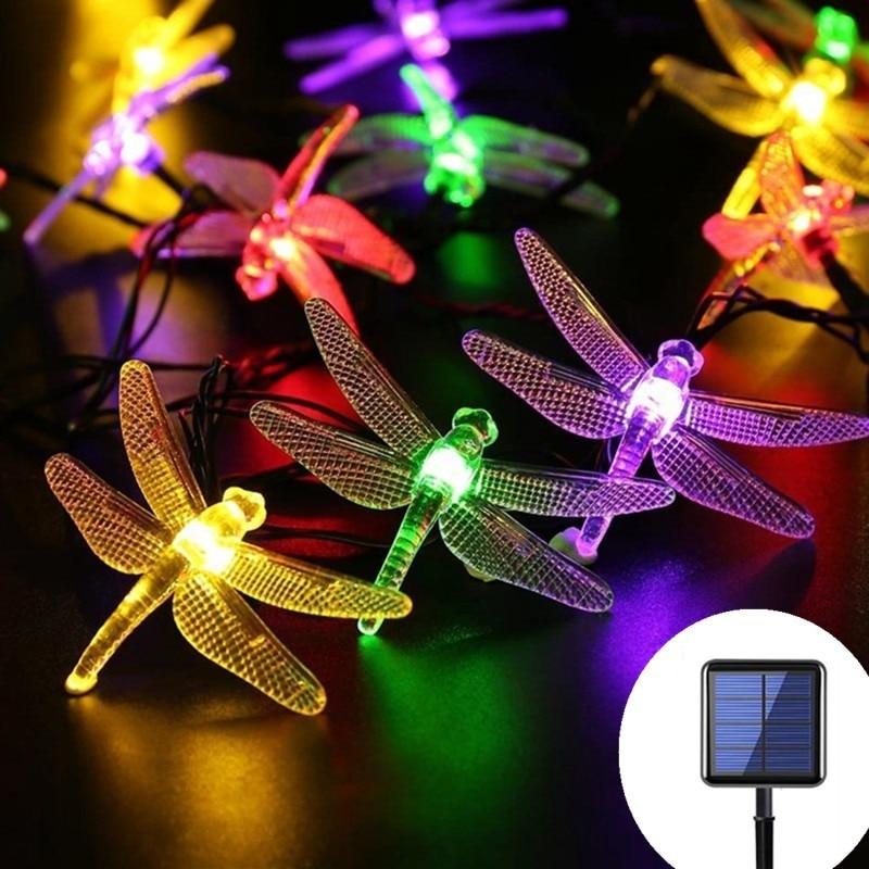 Outdoor Solar Garland Lamp String Waterproof 20/50LED Fairy Lights Navidad Christmas Decoration Led Street