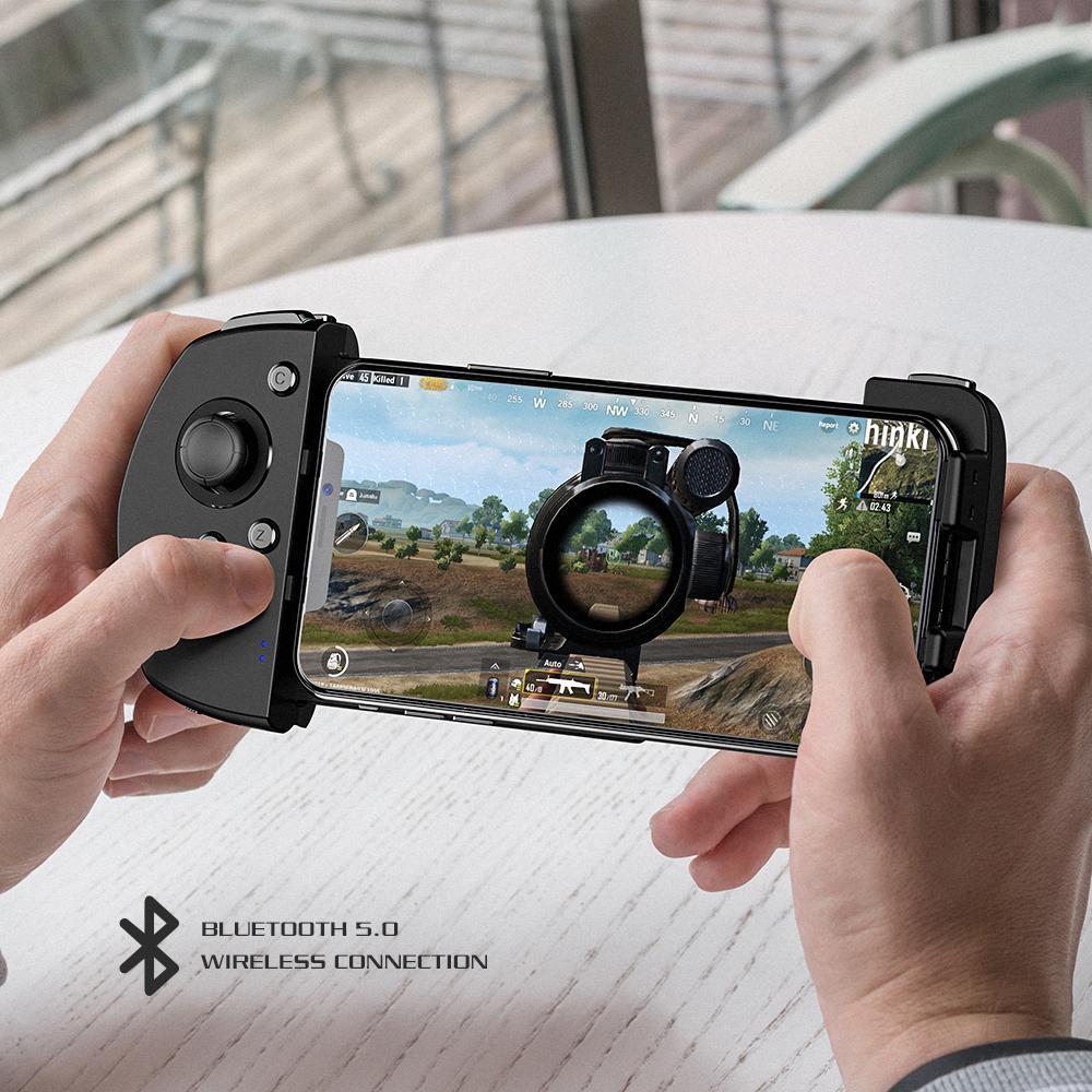 وحدة تحكم ألعاب محمولة لاسلكية تعمل باللمس ، مع عصا تحكم ثلاثية الأبعاد ، تقنية G-Touch لألعاب iOS FPS