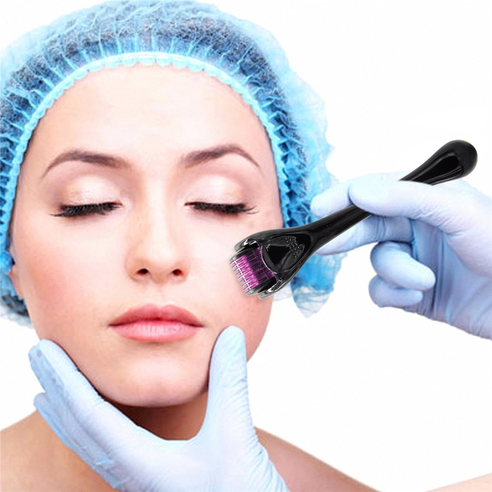 Titanium Micro Needle 0.25/0.5mm Derma Roller Dermaroller Hair Regrowth Beard Growth Anti Hair Loss Treatment Thinning Receding
