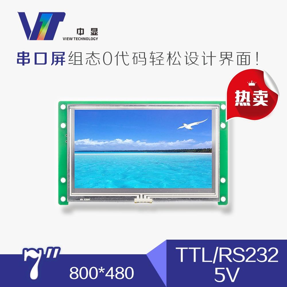 SDWe070T06 المنفذ التسلسلي شاشة 7 بوصة LCD تعمل باللمس TFT وحدة الكريستال السائل وحدة اللون