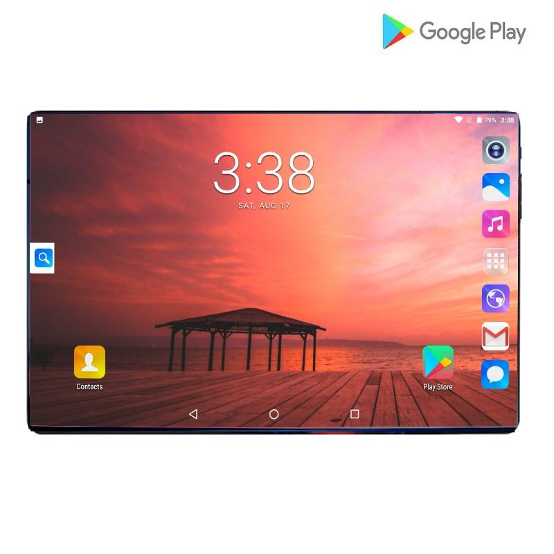 Caliente de 10,1 pulgadas 4G LTE Tablet PC Octa Core 1280x800 IPS HD 8.0MP wifi 6GB RAM 64GB ROM Android 9,0 GPS teléfono tabletas 10,1 + regalo