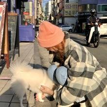 Gentle Coral Korean Ins a Hood Female Winter Curling Woolen Cap Japanese Cute Rabbit Hair Knitted Ha