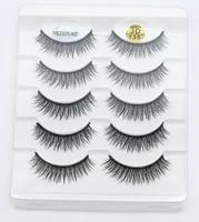 false eyelashes lengthen thick curling designs 5 pairsset 3d chemical fiber faux cils makeup tools beauty salon