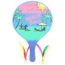 Board Badminton Racket Beach Racket Seven Layers High-grade Poplar Wood Creative Table Tennis Racket (Random Color)