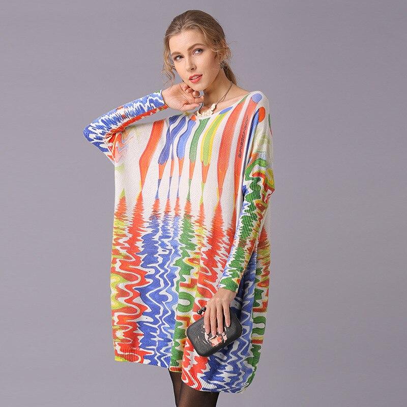 Женский трикотажный пуловер с принтом, свободный трикотажный топ, блузка, женская одежда, 2021