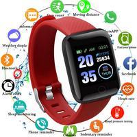 Смарт-часы с шагомером 116Plus, Bluetooth, пульсометром, тонометром