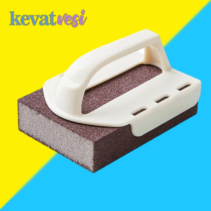 Magic Sponge Eraser Emery Sponge with Handle Kitchen Cleaning Brush Rust Remover Brush Descaling Clean Rub Kitchen Gadget Tools недорого