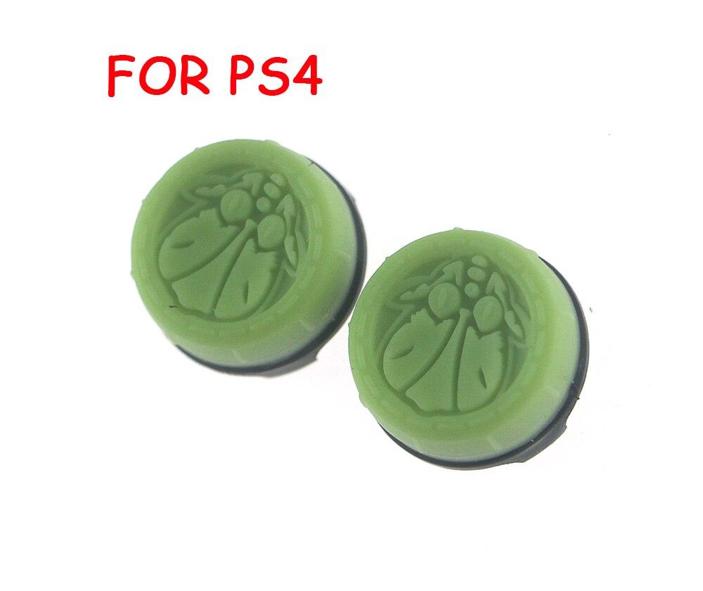 2 pces = 1 conjunto polegar aperto vara capa manche tampas para sony ps4 playstation 4 controlador com pacote