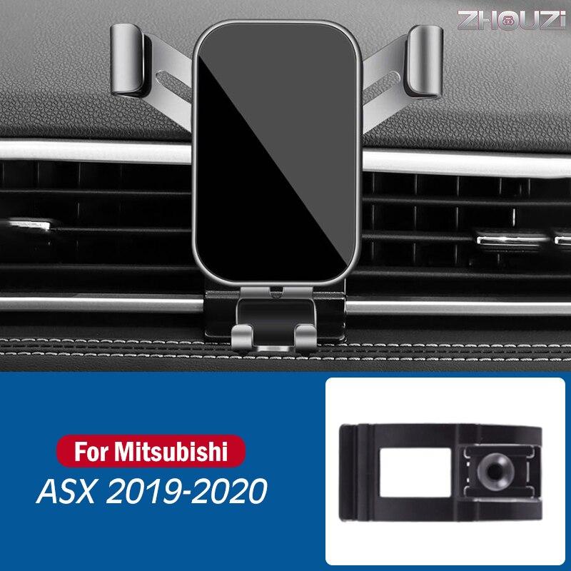 Автомобильный мобильный телефон держатель для Mitsubishi ASX 2019 2020 специальные крепления стойки GPS гравитационный навигатора, автомобильные аксе...