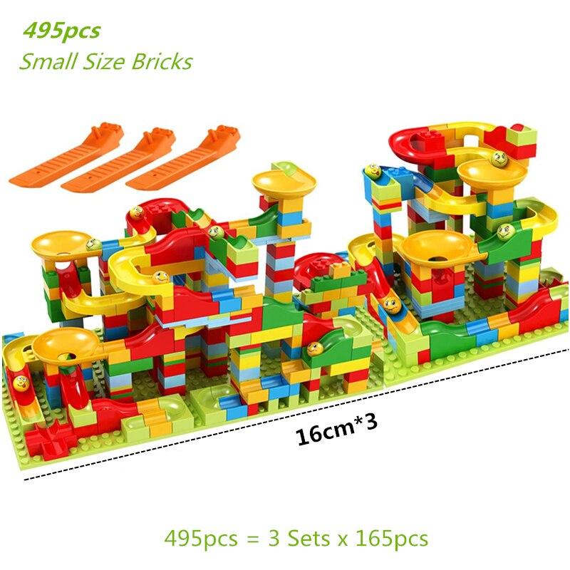 Мраморная гоночная трасса разнообразные воронки горка трасса строительные блоки маленький размер набор кирпичей идея для детей Подарки