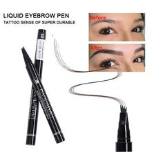 HANDAIYAN Hot 3D Microblading Eyebrow Tattoo Pen 5 Color Waterproof 4 Fork Tip Makeup Tint Enhancer Fine Sketch Maquiagem TSLM2