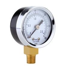 Manómetro, filtro de Spa para piscina, Metal ligero, duradero, 0-2bar/0 ~ 30psi, compresor de aire, piezas de equipo de piscina neumática