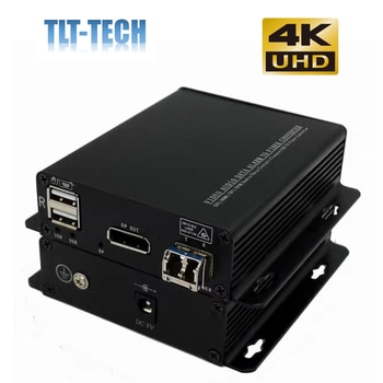 One pair 4K Displayport extender over fiber optical with KVM support USB keyboard and mouse up to 10KM single mode