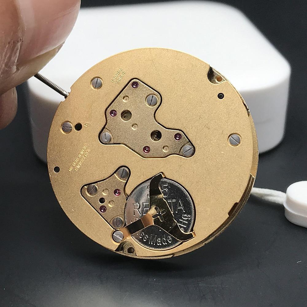 Swiss Ronda 5010B Top Quality Quartz Watch Movement With Battery Inside Standard Mechanism Golden Clock Parts 10 Jewels enlarge