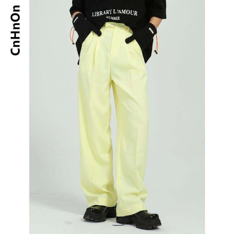 Весна новый продукт простой свободный тренд сплошной цвет прямые мужские брюки для повседневной носки для мужчин M8-BG-0502