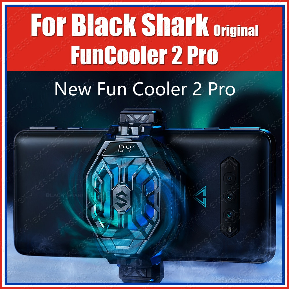 BR30-SR الأسود القرش FunCooler 2 برو الجليد حوض العالمي السائل الألعاب برودة مروحة ل القرش الأسود 4 برو 3s 3 برو 2 برو