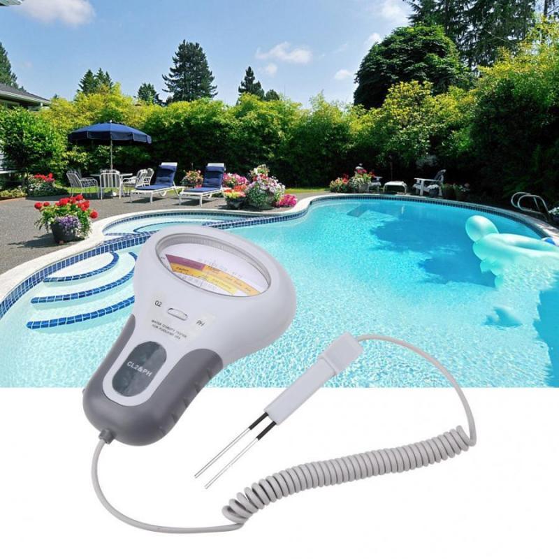 Medidor de cloro ph tester 2 em 1 qualidade da água testador piscina aquário medição teste ph y cloro piscina