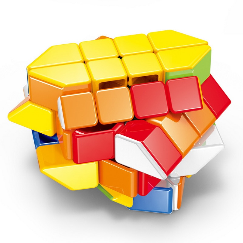 new 3x3 torsion magic cube magnetique coloful twisted cube puzzle toy stickerless puzzles colorful educational toy bandaged cube Magic Cube Magnetique Stress Reliever Toys Bandaged Cube Solid Color Stickerless Puzzle Cube  Speed Cube Rotating Smooth