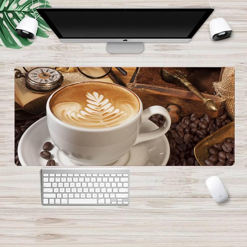 Кофейные игровые коврики, коврик для мыши XL, большой игровой коврик для клавиатуры, настольного ПК, коврик для компьютерного планшета, коври...