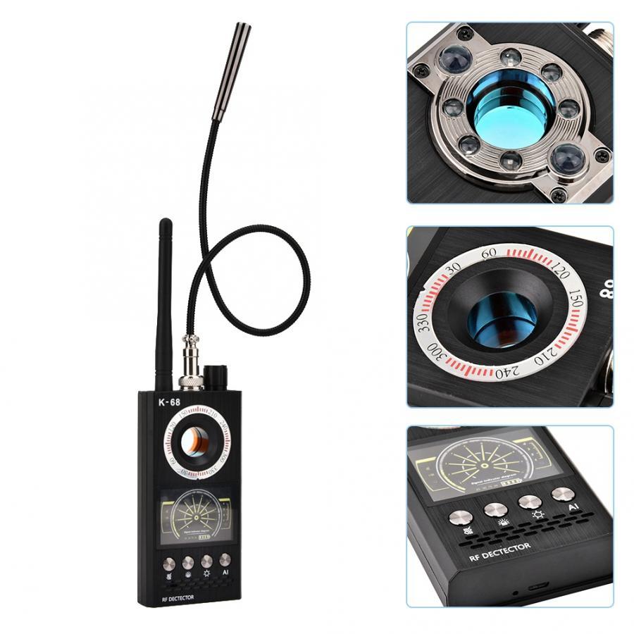 K68 t9000 detector de sinal sem fio portátil anti-esguicho anti-rastreamento detectores gps scanner de rádio proteger a antena dropship quente