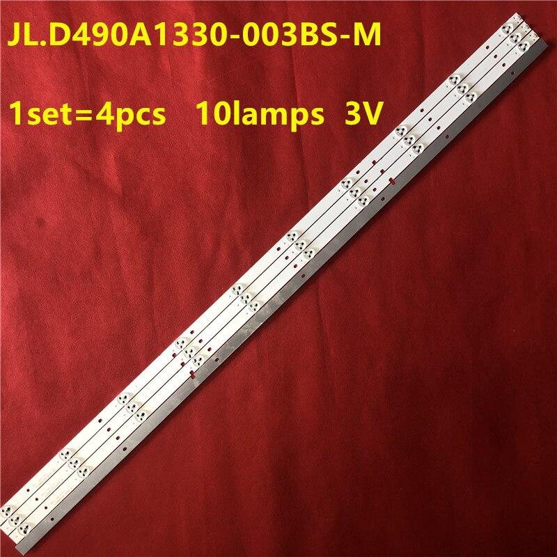 Tira de LED para iluminación trasera 10 lámpara para su ense 49 TV H49M2600 H49M2100 JL.D490A1330-003BS-M LED49H2600 LED49K300U JHD490N2F81  S0