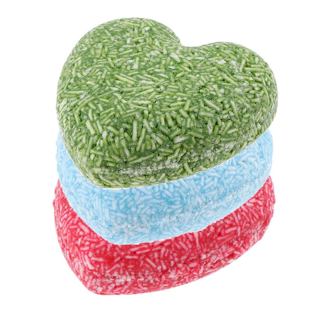 3x shampoing cheveux barre 55g cannelle menthe camomille algues solide soin des cheveux savon