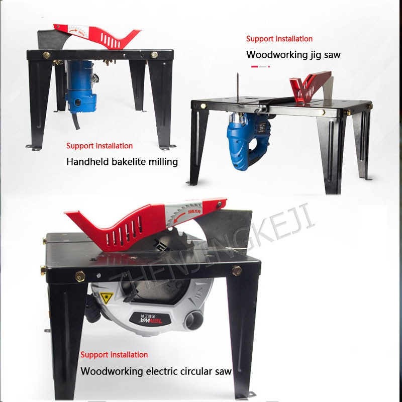 Woodworking Workbench Multi-function Portable Home Small Decoration Tools Frame Push Table Electric Circular Saw flip Saw Table