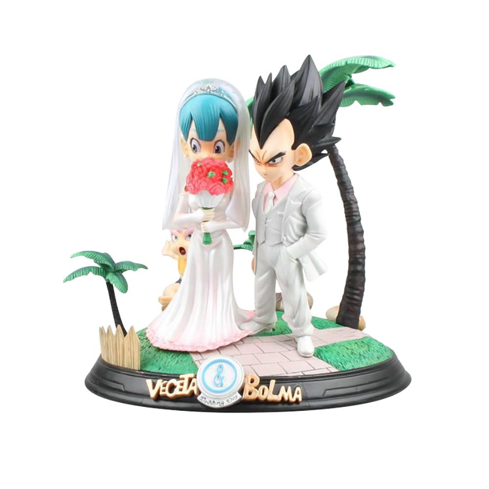 Dragon Ball GK Bulma Buruma Vegeta IV Anime MODELO DE figura de acción Boda boda Vestido colección de estatuas de juguete decoración de escritorio