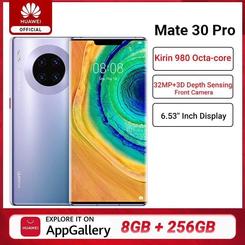 "Versión Global HUAWEI Mate 30 Pro 8GB 256GB Smartphone 40MP Triple cámaras 32MP cámara frontal 6,53 ""Pantalla Kirin 990 Mate 30 pro"