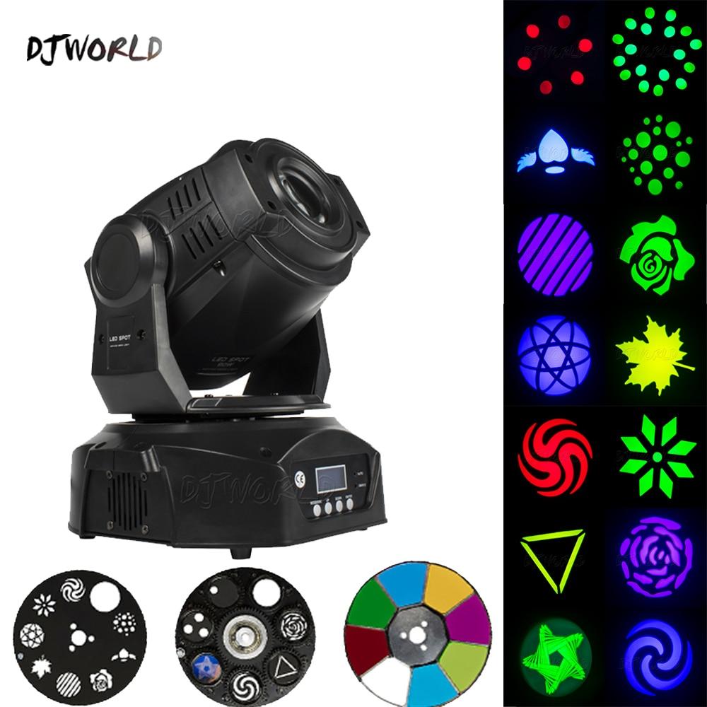 2шт% 2Flots с Flight Case 90W Spot Moving Head Lighting 6 Prisms DMX Control Gobo Strobe Lamp For Dj party Stage Night Club
