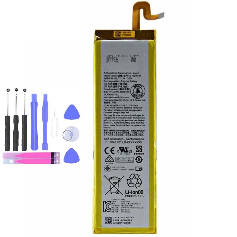 100% real 4000mah l15d1p31 bateria para lenovo yoga tab 3 pro em estoque de alta qualidade bateria + número de rastreamento