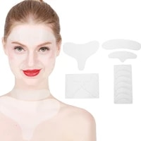 11pcs facial wrinkle patches silicone reusable antiwrinkle eye forehead neck chest pads sticker face lifting mask skin care tool