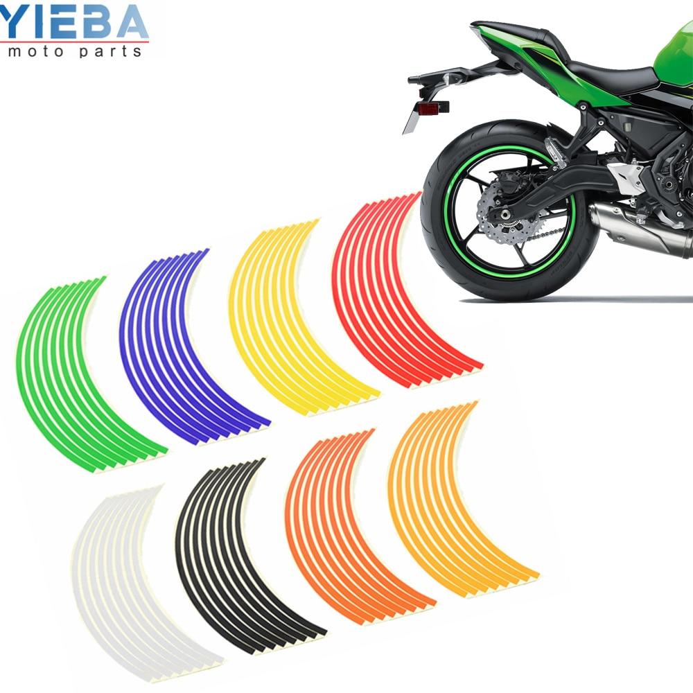 Adesivo de aro para roda de carro e motocicleta, acessórios reflexivos para yamaha YZF-R25V r15 r125 tmax530 500 ktm