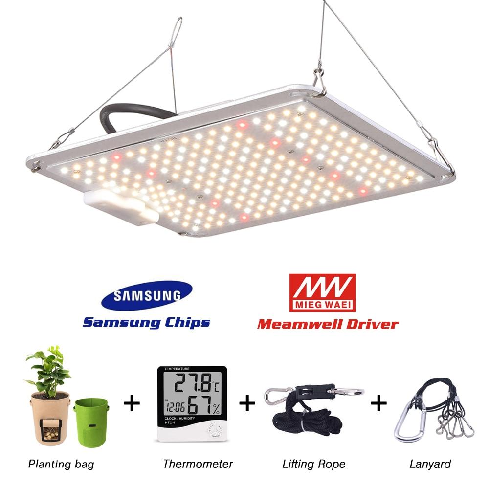 1000W Samsung LM301H/LM301B Quantum Tech LED Grow Light Full Spectrum 3000K 5000K Mix 660nm IR With Hygrometer and Planting bag