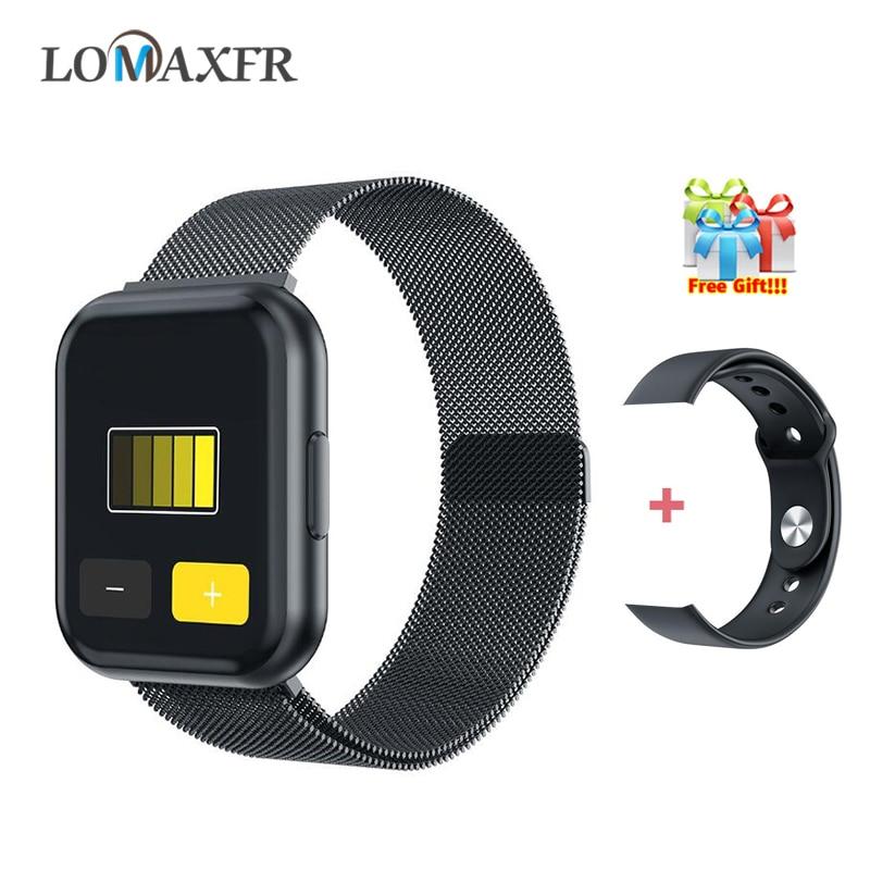 Relojes inteligentes T88 para hombre, reloj deportivo con bluetooth, reloj inteligente para mujer 2020, pulsera de Fitness completamente táctil, resistente al agua para Android Pk P70