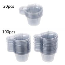 100Pcs 40ML Plastic Disposable Cups Dispenser For DIY Epoxy Resin Jewelry Making