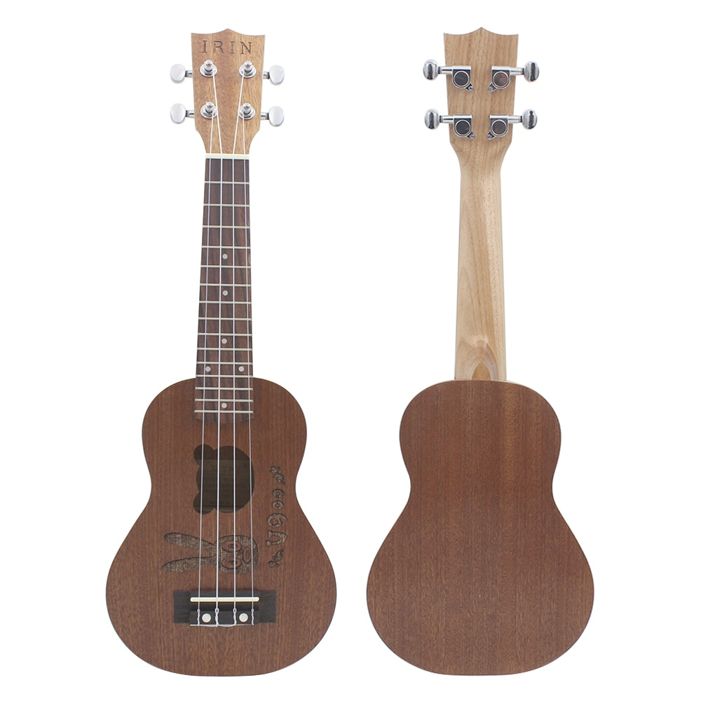 21 Inch Ukulele Sapele Soprano Ukulele Bunny Bear 4 Strings Hawaiian Guitar Beginner Kids Musical Instrument Gifts Mini Guitarra
