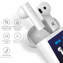 M6 Plus TWS Wireless Bluetooth Earphones Power Display In-ear Earbuds Mini Sports Headset Forehead Gun Temperature Measurement