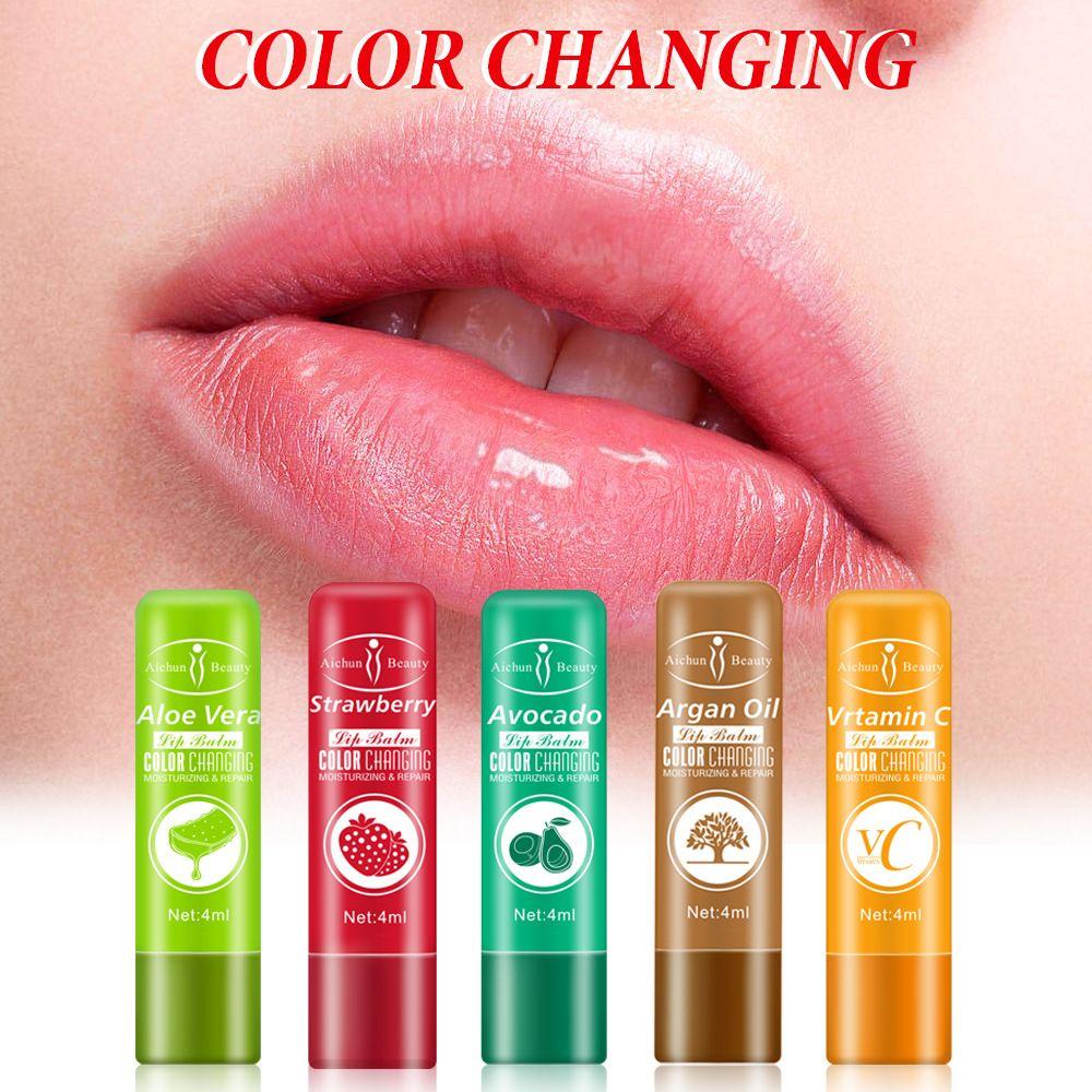 LAIKOU Fruit Moisturizing Lip Balm Long-Lasting Nourishing Lipstick Color Mood Changing Reduce Fine Lines Dryness Lip Care недорого