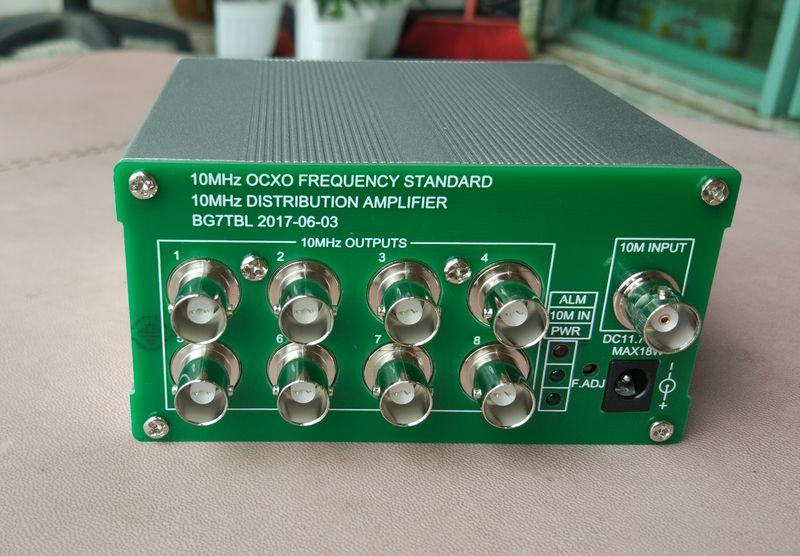 Envío gratis por BG7TBL, amplificador de distribución de 10MHz, frecuencia estándar, salida de 8 puertos
