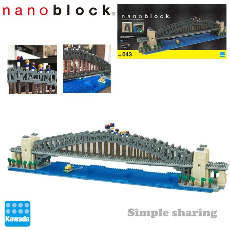 Nieuwe Nanoblock NB-043 Deluxe Sydney Harbour Bridge Model 1500 Stuks Bouwstenen Creatieve Architectuur Steden Model Kits