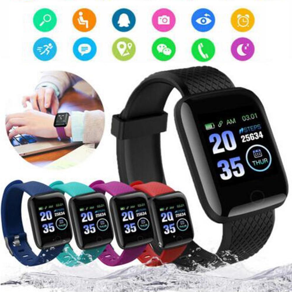 D13 Smart Watches 116 Plus Health Bracelet Heart Rate Smart Wristband Fitness Tracker Sports Watches Smart Band Waterproof недорого