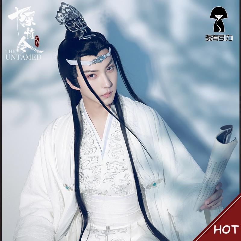 زي تنكري Lan Wangji, زي تنكري Lan Wangji زي مو داو زو شي الأصلي Lan Zhan شعر مستعار للزي القديم وي وشيان يينج باتريوك هالوين