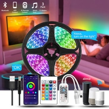 5m 5050 Rgb Usb Led Strip 12v Waterproof Indoor Lighting Tiras Led Habitacion Luces De Led Para Deco