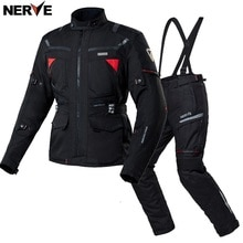 Free shipping 1set Waterproof Motorcycle Jacket and Pants Off-road Riding Windproof Winter Warm Lini