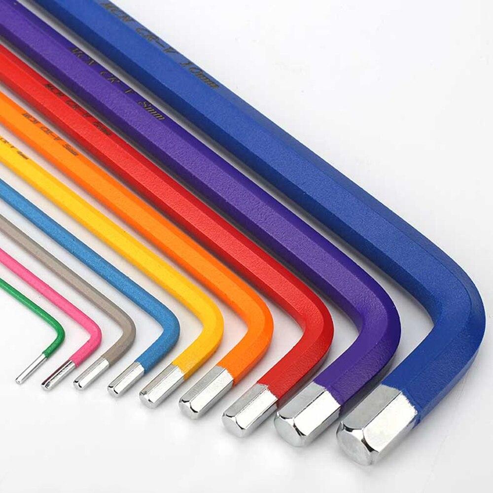 9pcs 1.5mm - 10mm Hexagon Allen Key Wrench Tools set imbus Matte Chrome Ball End Spanner set Screwdriver Set Tool Kit