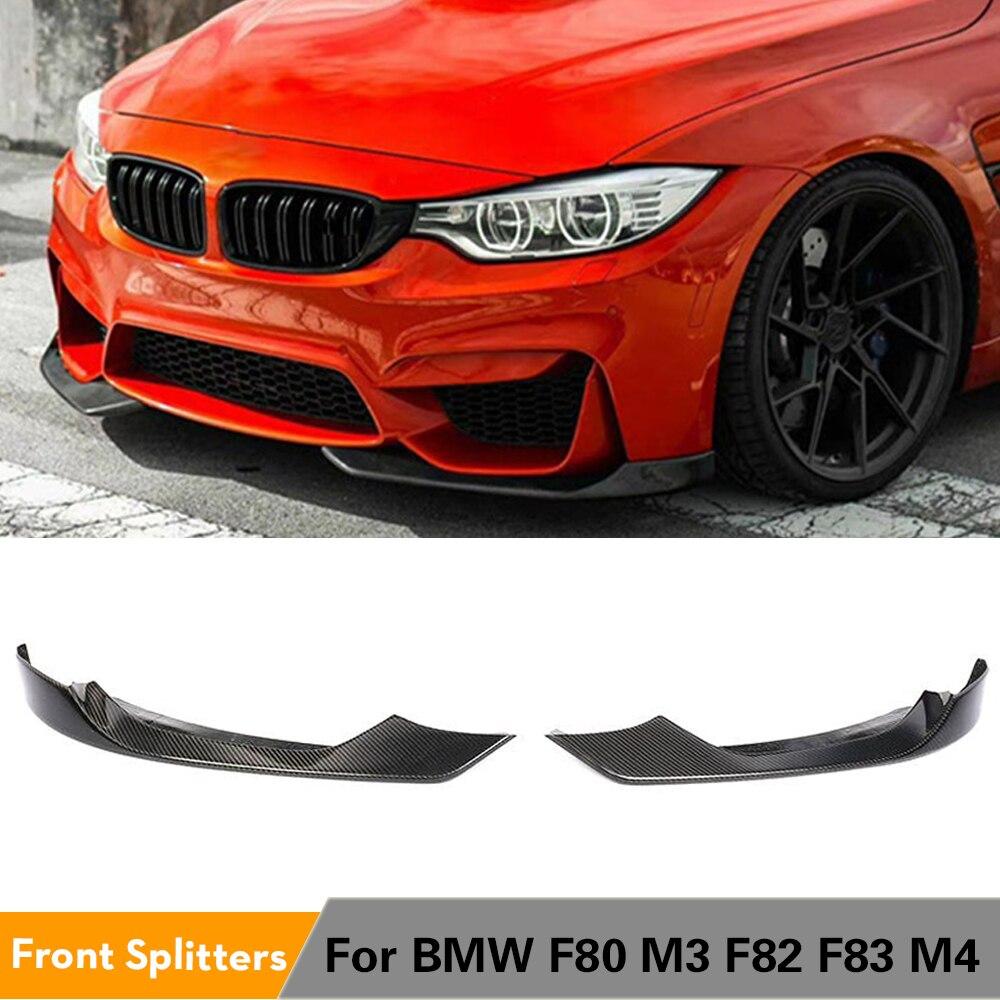 جناح المصد الأمامي لسيارات BMW ، ملحقات السيارة ، ألياف الكربون/FRP ، لسيارات BMW F80 M3 F82 F83 M4 Sedan Coupe Convertible 2014 - 2018